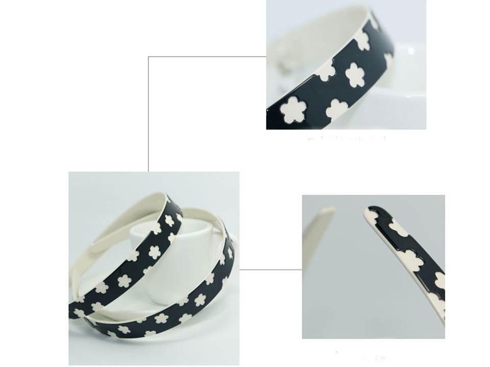 Black white flowers Acylic headband