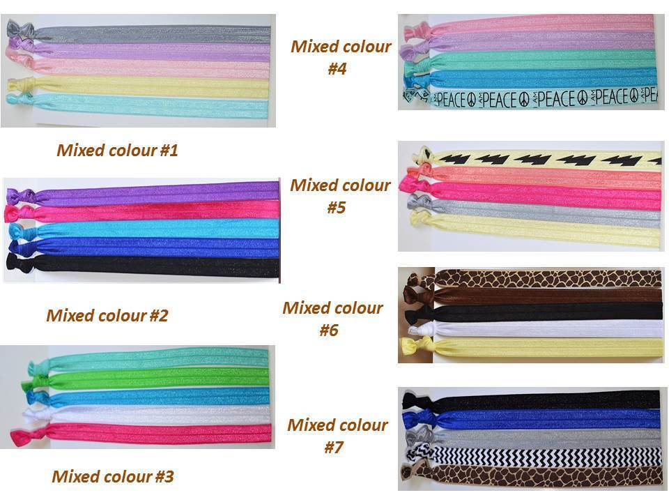 Pretty knotted elastic headbands