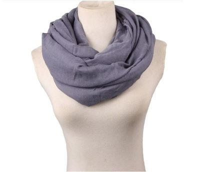 Larger size solid infinity scarf