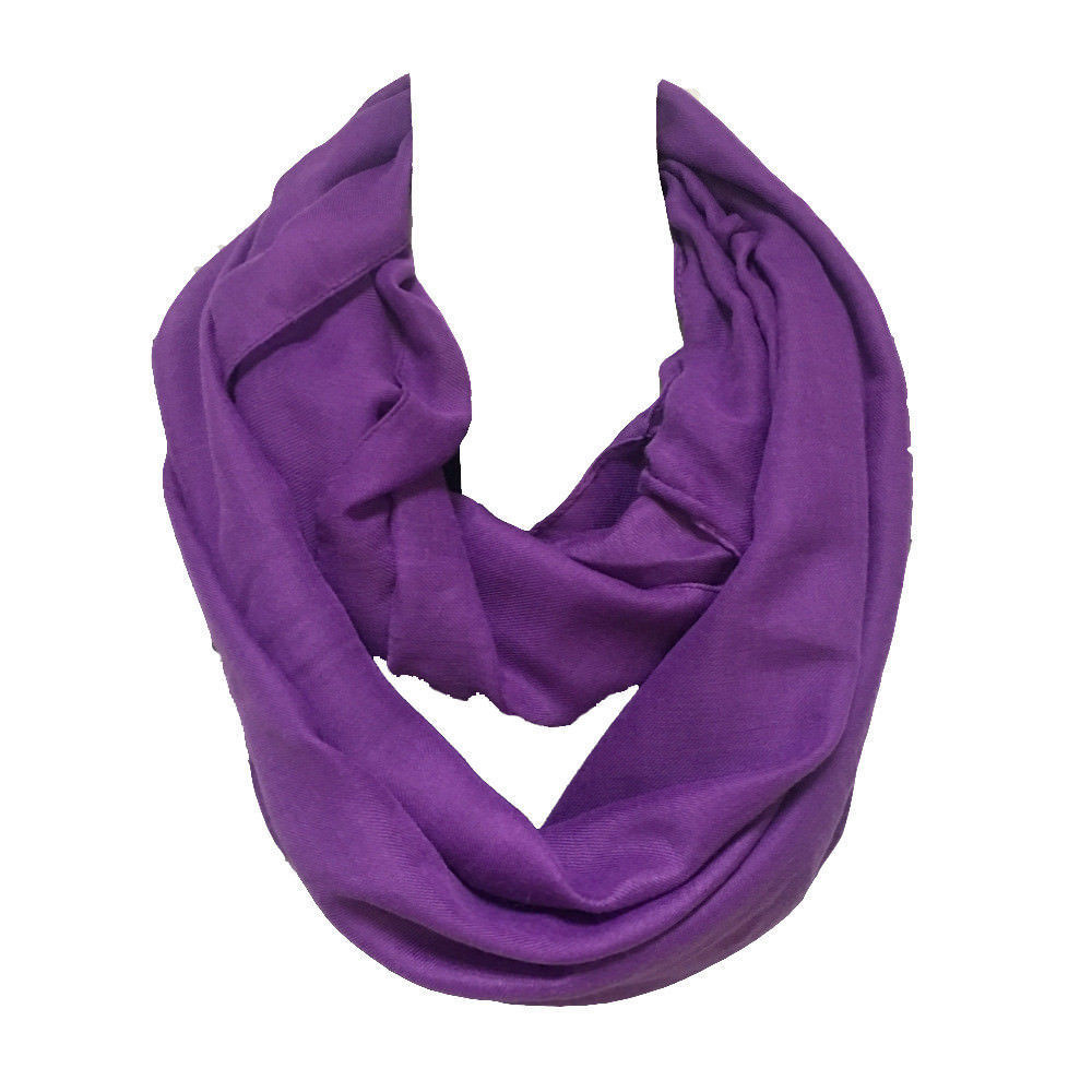 Twill cotton solid infinity scarf