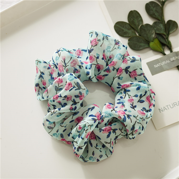 Small flowers chiffon scrunchies
