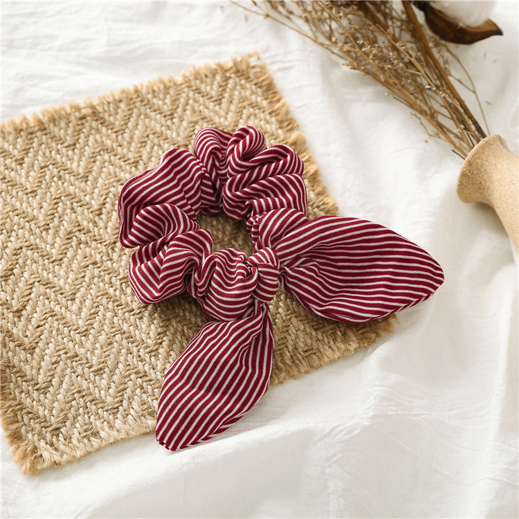 Slim strips scrunchies with bow