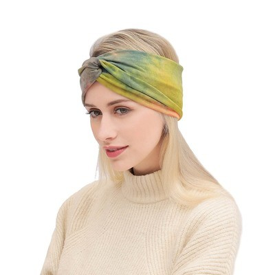 Tie-dye printed turban headband