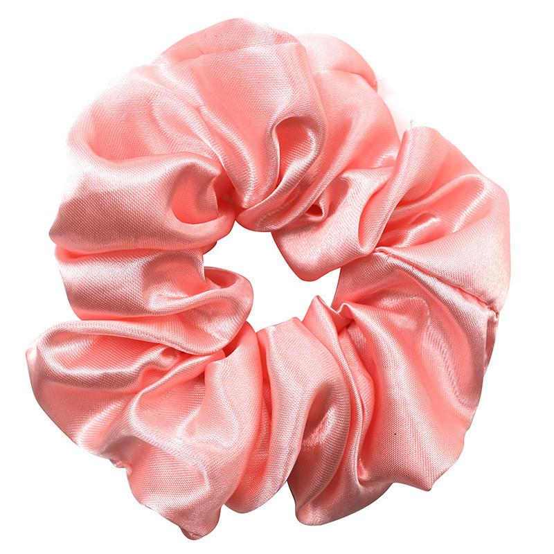 Gloss satin scrunchies