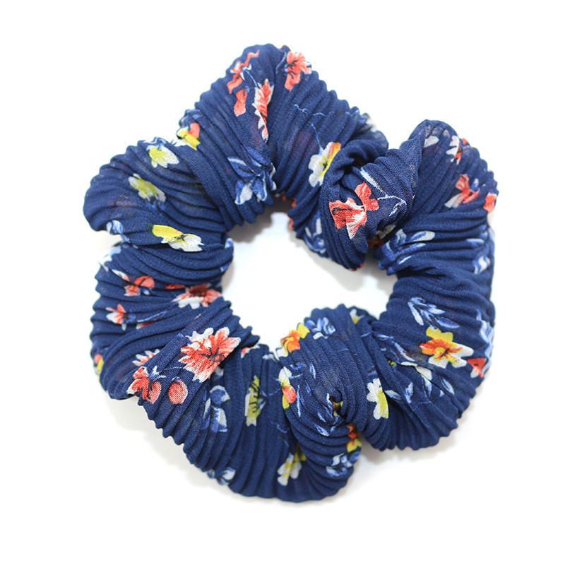Organza floral scrunchies