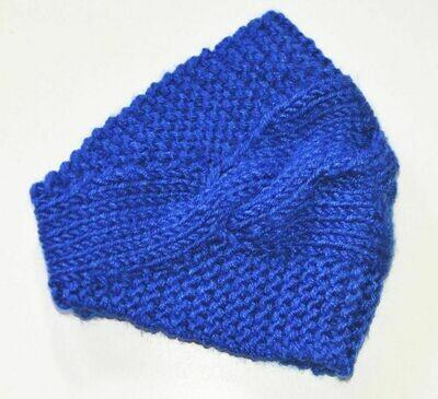Bandanna style crochet headband