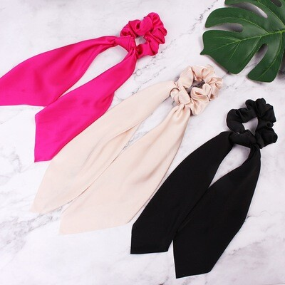 Premium satin scrunchies with scarf