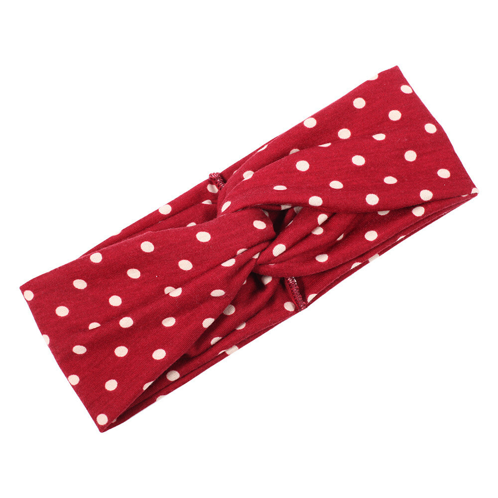 Polka dots turban headband