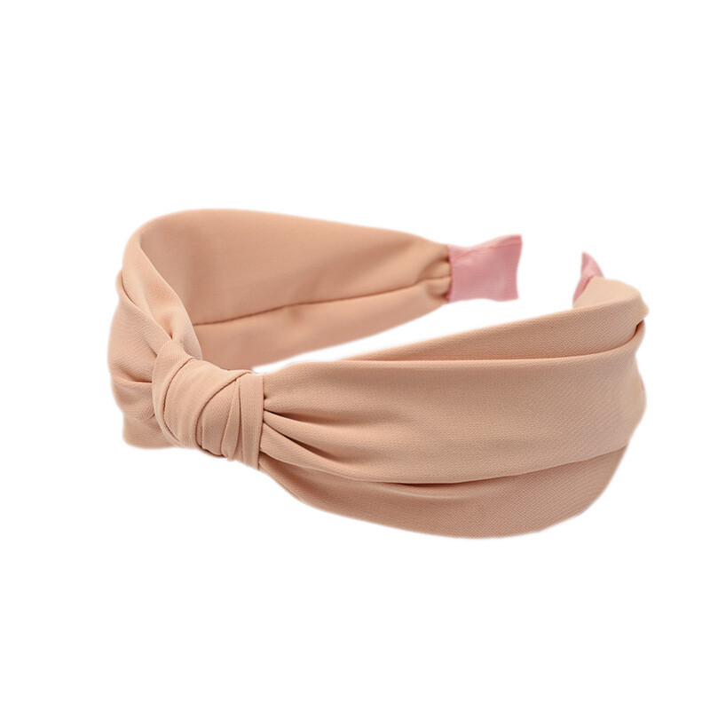 Knot front plain headband