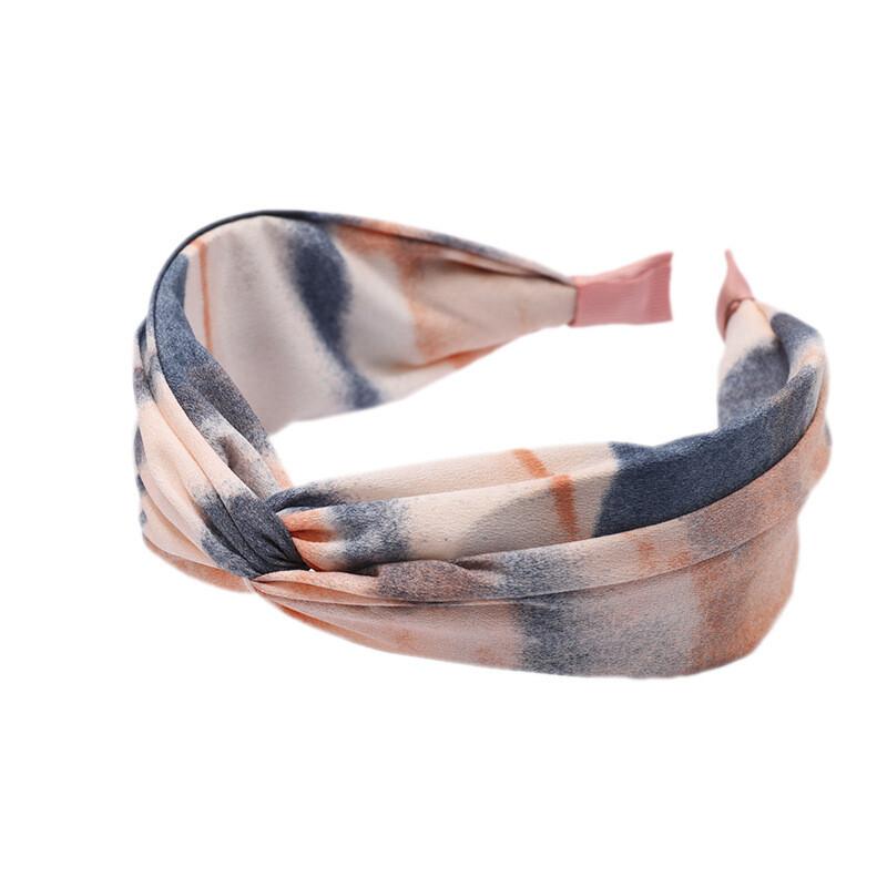 Twist front rainbow paint headband