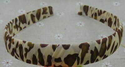 Leopard chiffon ribbon headband