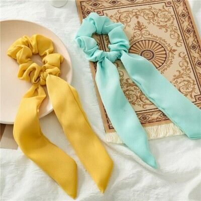 Chiffon scrunchies with scarf