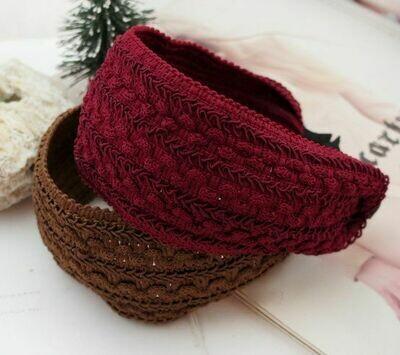 Knitted fabric wide headband
