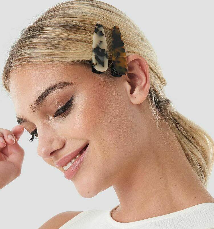 Tortoise hair clips (2 pack)