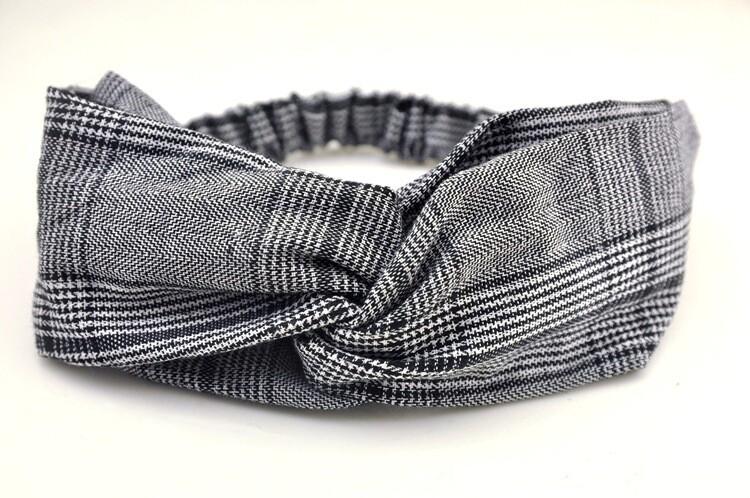 Hounds-tooth plaids turban headband