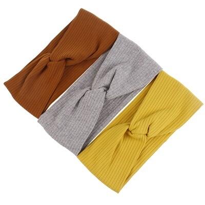 Ribbed cotton turban headband