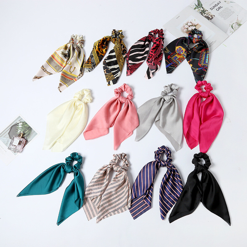 Scrunchies with scarf