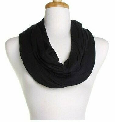 Plain jersey infinity scarf