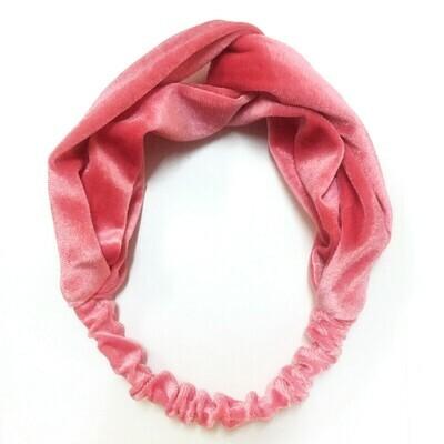 Velvet elastic turban headband