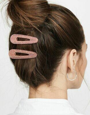 Glitter resin hair slide - 2 pack