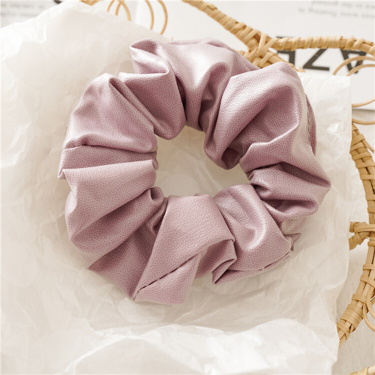 Soft leather scrunchies