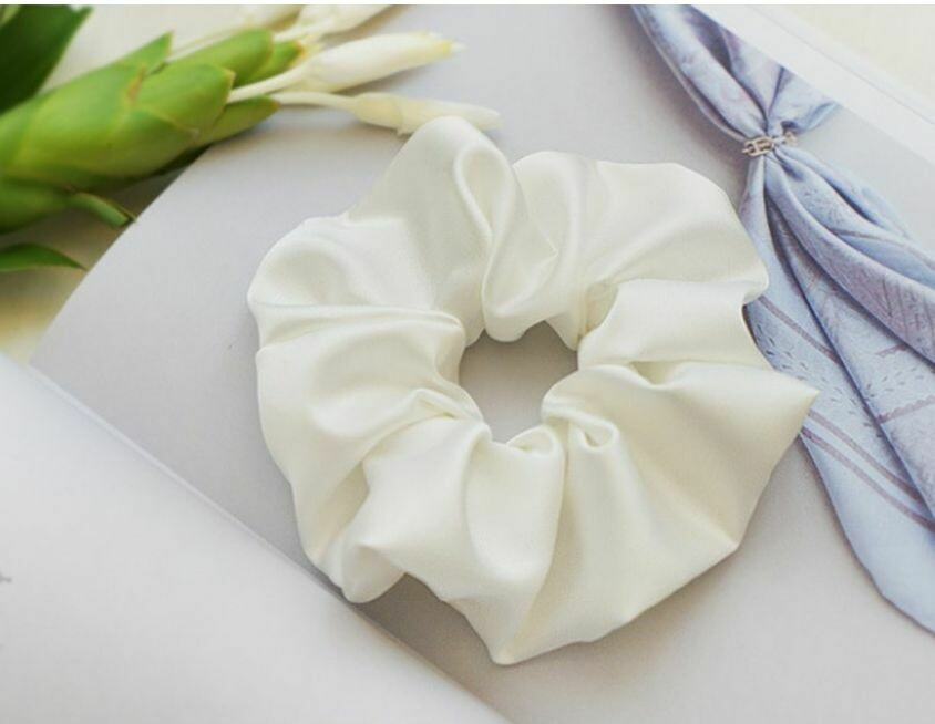 Silky satin scrunchies