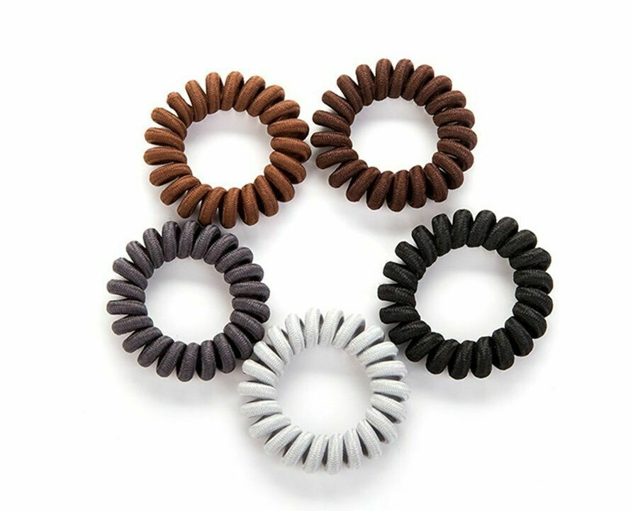 Fabric coil hair ties (5 pack)