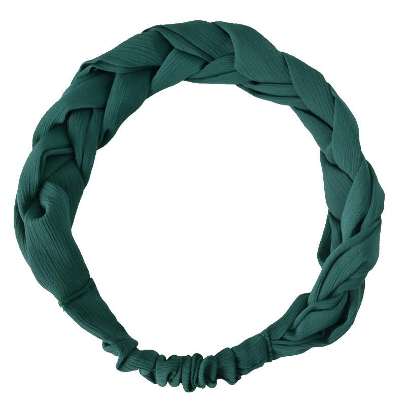 Chiffon braided stretch headband
