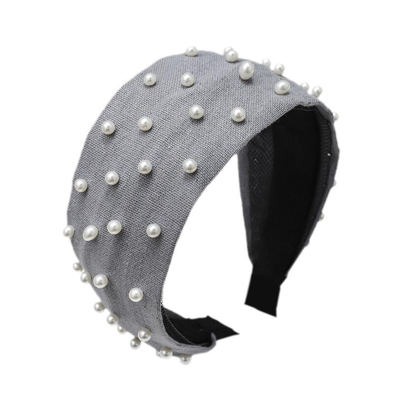 Pearl studded woven headband