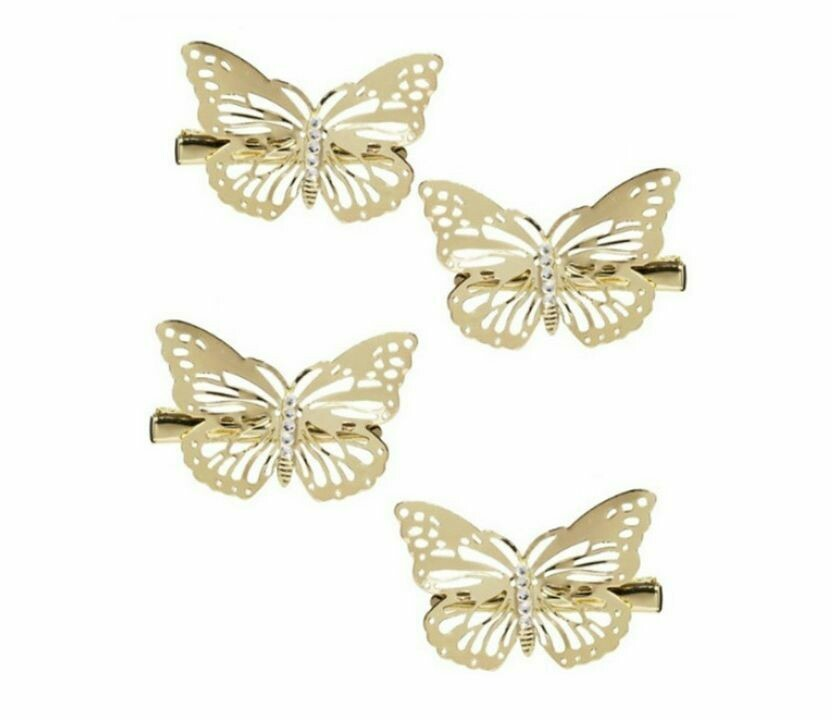 Butterfly hair clips - 4 pack