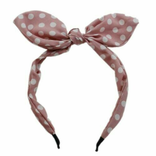 Polka dots headband with bow