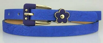 Flower deco pu belt