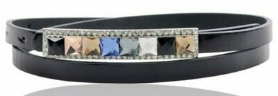 Colour gems pu belt