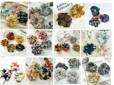 Printed scrunchies