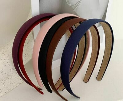 2cm matte satin headband