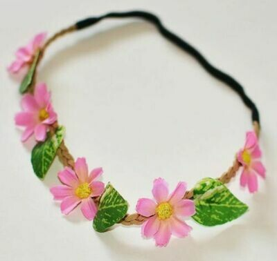 Artificial flowers elastic headband