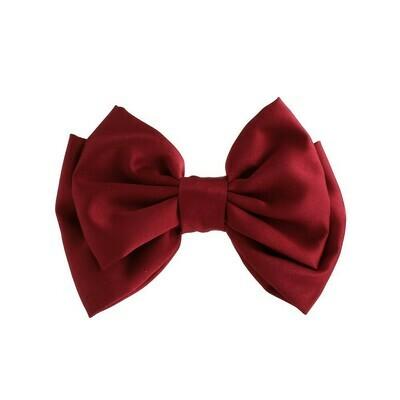 Satin bow hair slide