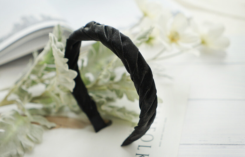 Luxury twist fabric plain headband