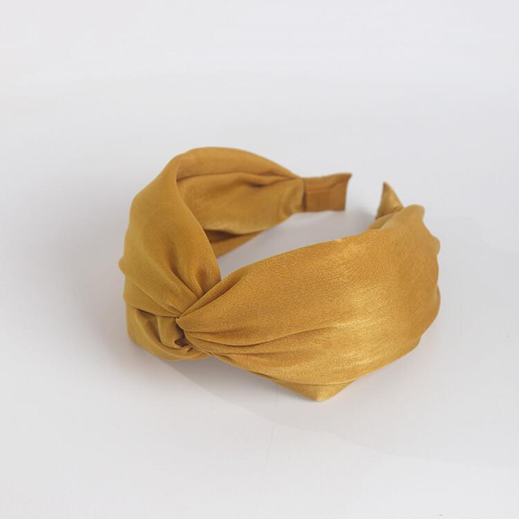 Twist front soft satin headband