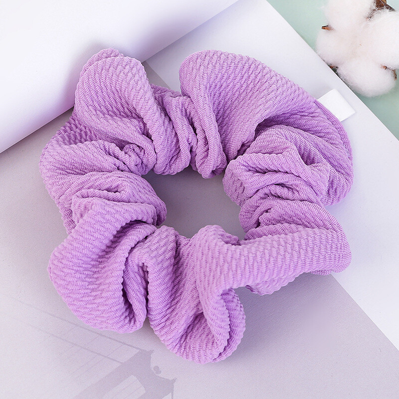 Over-size soft fabric scrunchies