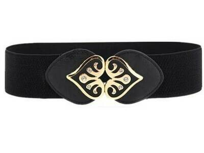 Gems buckle stretch belt