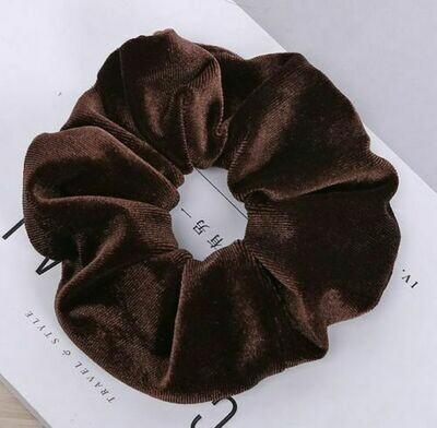 Large smooth velvet scrunchies