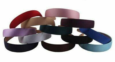 2.8cm-wide gloss satin headband