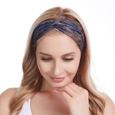 Tie-dye printed turban headband