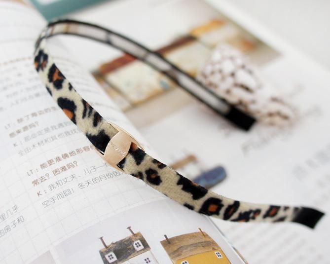 Leopard-style thin headband 00031
