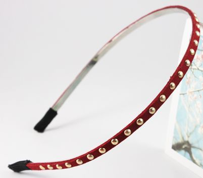 Round-rivet thin headband 00046