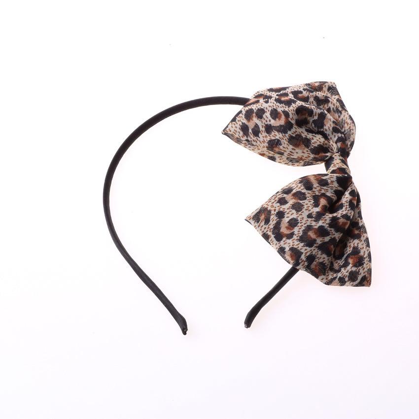 Thin leopard bow-tie headband 00081