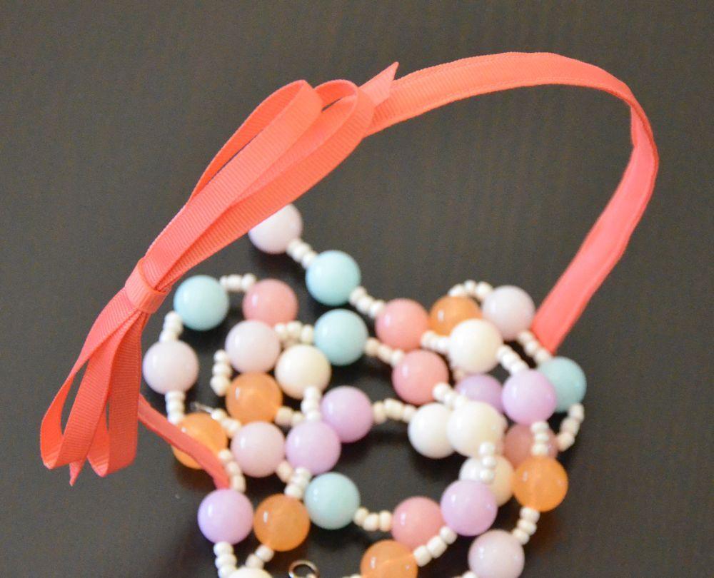 1cm ribbed-ribbon bow knot headband