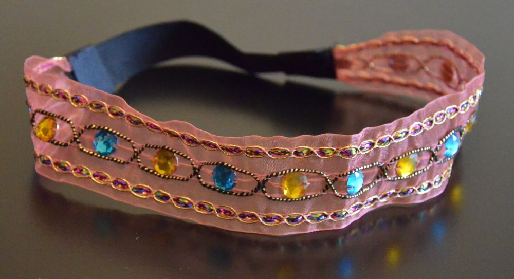 Bohemian colour-beads headband 00171
