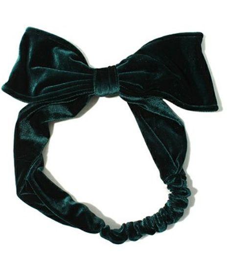 Large velvet bow-tie headband 00274